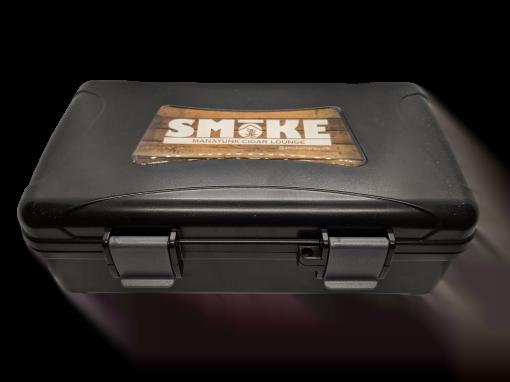 Travel Humidor - 10 Cigar Travel Humidor - Black w/ SMoKE Logo